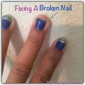 Steps To Fixing A Broken Nail!