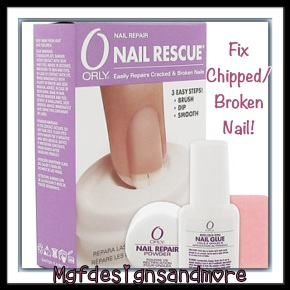 Fix Chipped/Broken Nail With Orly Nail Rescue!